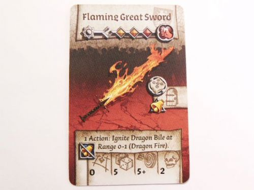 wulfsburg survivor equipment card (flaming great sword)
